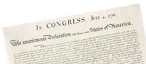 The Declaration of Independence of the United States of America.
