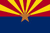Official State Flag of Arizona.