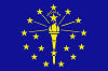 Official State Flag of Indiana.
