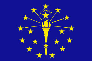 The official indiana state flag depicted above is the state flag of