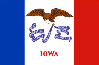 Official Iowa state flag.