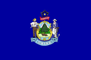 Official Maine state flag.