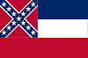 Official State Flag of Mississippi.