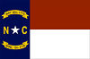 Official State Flag of North Carolina.