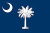 Image of the South Carolina state flag.