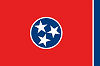 Official State Flag of Tennessee.