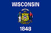 Official State Flag of Wisconsin.