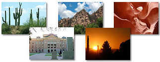 Arizona State collage of images.