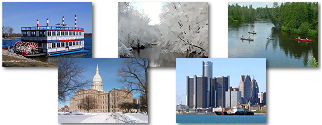 Michigan State collage of images.
