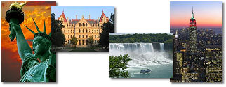 New York State collage of images.