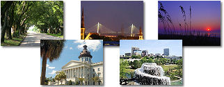 South Carolina State collage of images.