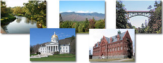Vermont State collage of images.