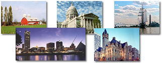 Wisconsin State collage of images.