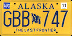 Image of the Alaska state license.