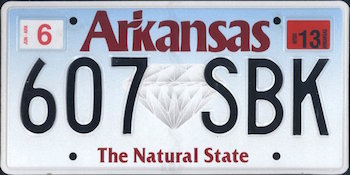 Official Arkansas state license.