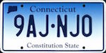 Official Connecticut state license plate.
