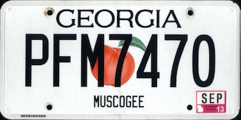 Official Georgia state license.
