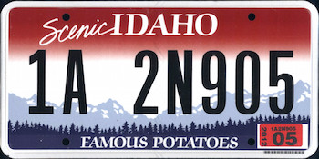 Official Idaho state license.