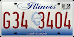 Official Illinois state license plate.