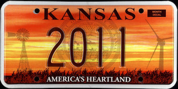 Official Kansas state license.