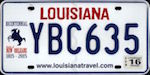 Official Louisiana state license plate.