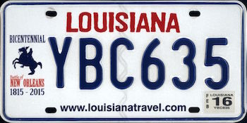 Official Louisiana state license.