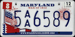 Official licens plate of Maryland state.