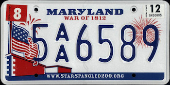 Official Maryland state license.