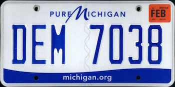 The Official Michigan State License Plate The Us50