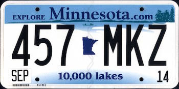 The Official Minnesota State License Plate The Us50