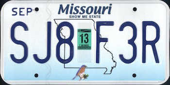 Official Missouri state license.
