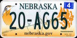 Official Nebraska state license plate.