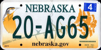 Official Nebraska state license.