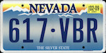 Official licens plate of Nevada state.