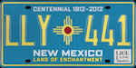 Official licens plate of New Mexico state.