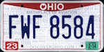 Official Ohio state license plate.