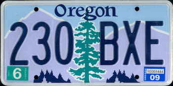 Official Oregon state license.