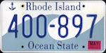 Image of the Rhode Island state license.