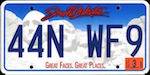 Official South Dakota state license plate.