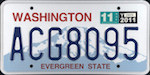 Official licens plate of Washington state.
