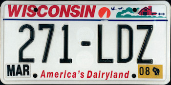 The Official Wisconsin State License Plate The Us50