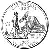 Commemorative state quarter of California.