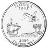 Commemorative state quarter of Florida.