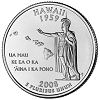 Commemorative state quarter of Hawaii.