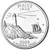 Commemorative state quarter of Maine.