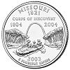 Commemorative state quarter of Missouri.