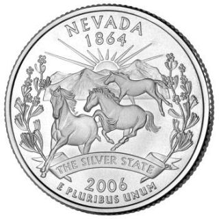 Reverse coin side (tails) of the Nevada quarter.