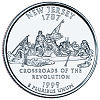 Commemorative state quarter of New Jersey.