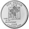 Commemorative state quarter of New Mexico.