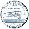 Commemorative state quarter of North Carolina.